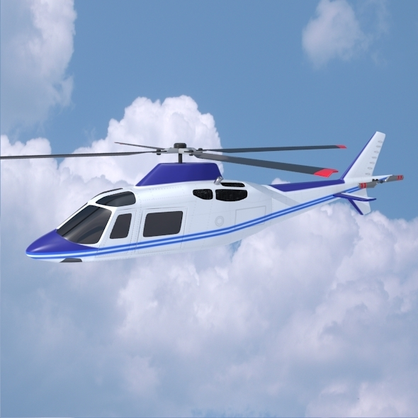Agusta aw109 civilian helicopter - 3DOcean Item for Sale