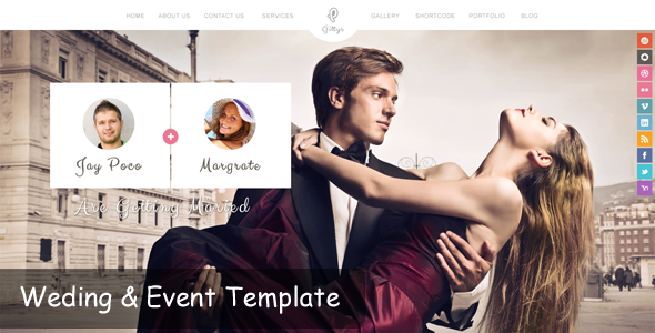 Gittys – Event & Wedding Template