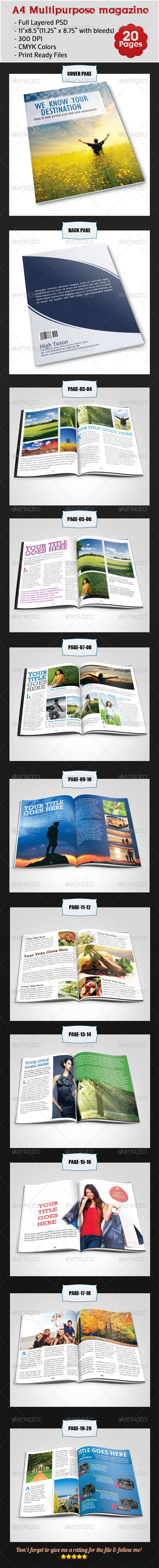 A4 Multipurpose Magazine - Informational Brochures