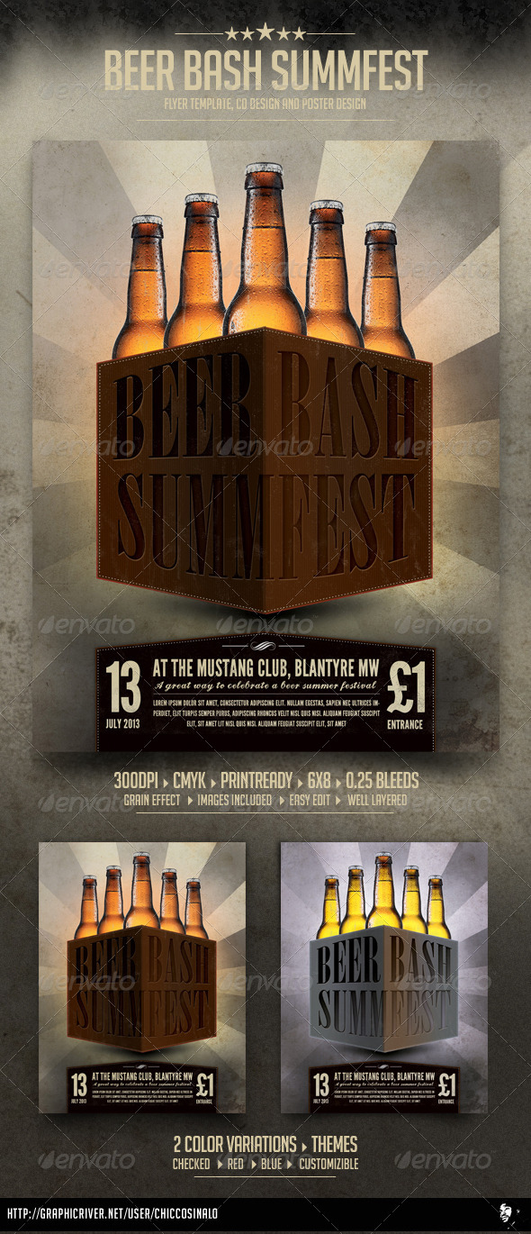 Beer Bash Flyer Template - Events Flyers