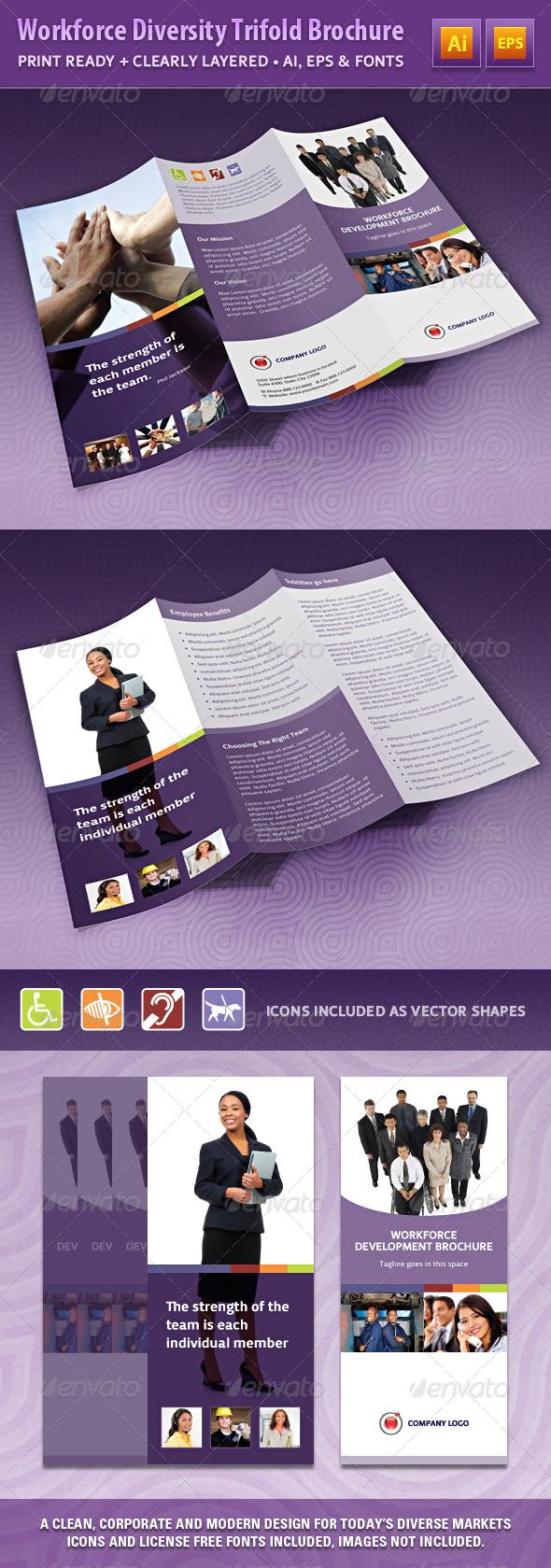 Workforce Diversity Trifold Brochure - Brochures Print