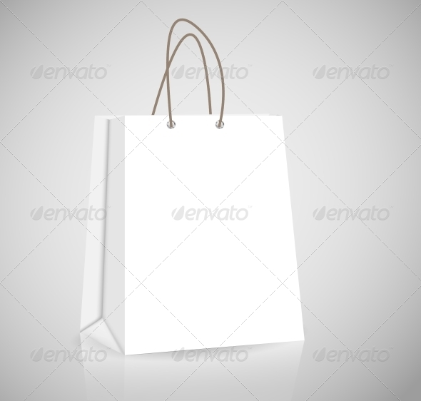 Empty Shopping Bag for Advertising and Branding - Retail Commercial / Shopping