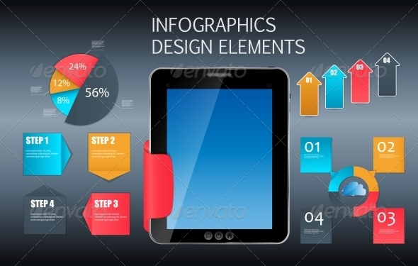 Business Infographic Template - Web Technology