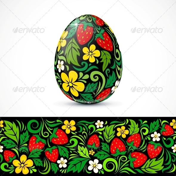 Traditional Ornate Easter Eggs Sticker Design - Miscellaneous Seasons/Holidays