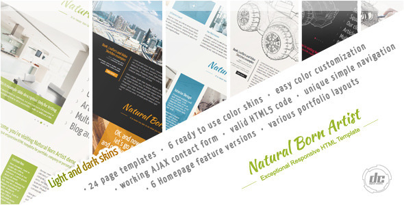 Natural Born Artist – Exceptional HTML Template