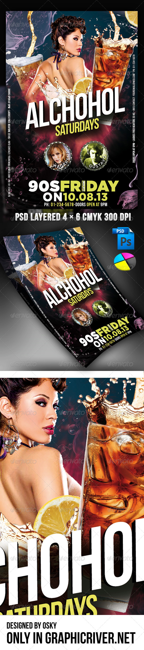 Alcohol Saturday Party - Clubs & Parties Events
