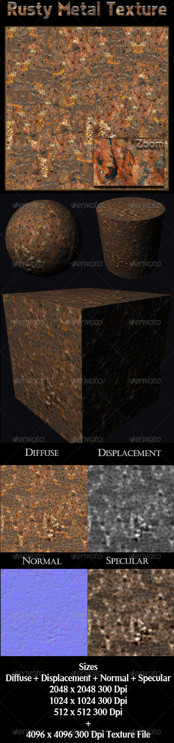 Rusty Metal Texture - 3DOcean Item for Sale