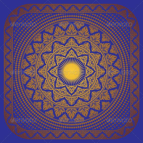 Sun Ornament Frame - Decorative Symbols Decorative
