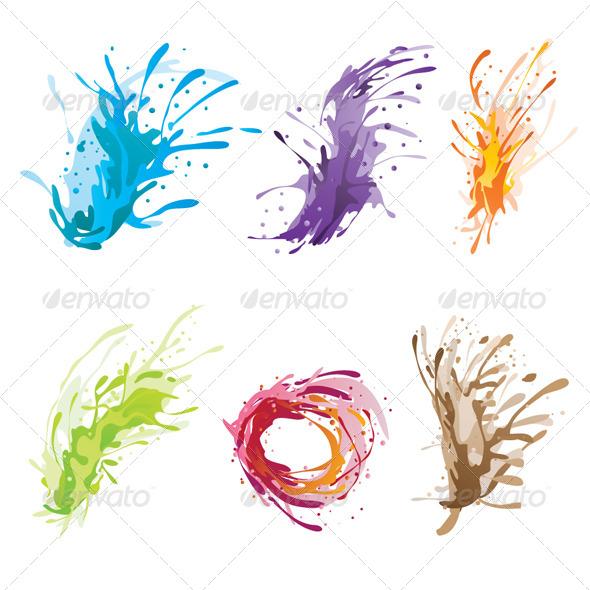 Ink Color Brush - Backgrounds Decorative