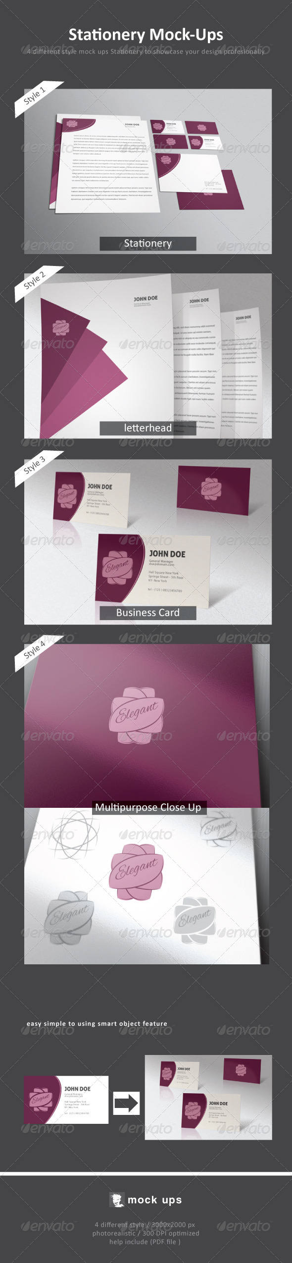 Stationery Mock-Up - Stationery Print