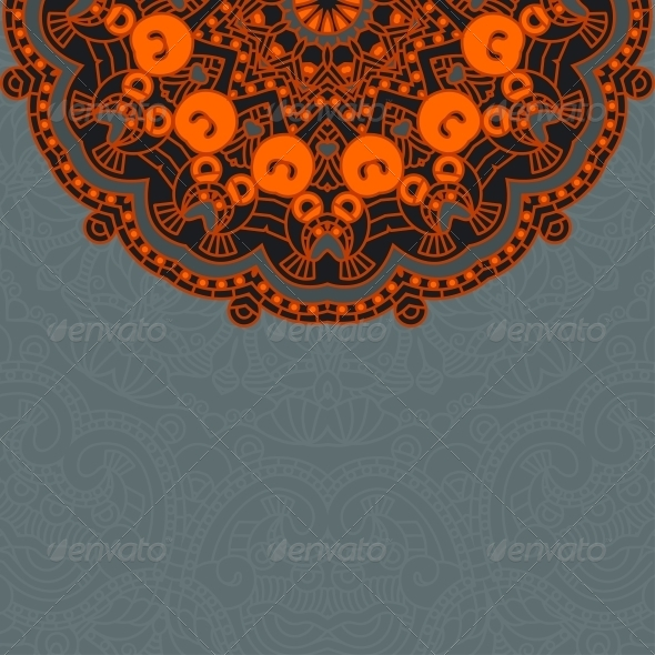 Vector Round Decorative Design Ornament - Miscellaneous Seasons/Holidays