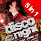 A4 5in1 Disco Night Club Flyer - GraphicRiver Item for Sale