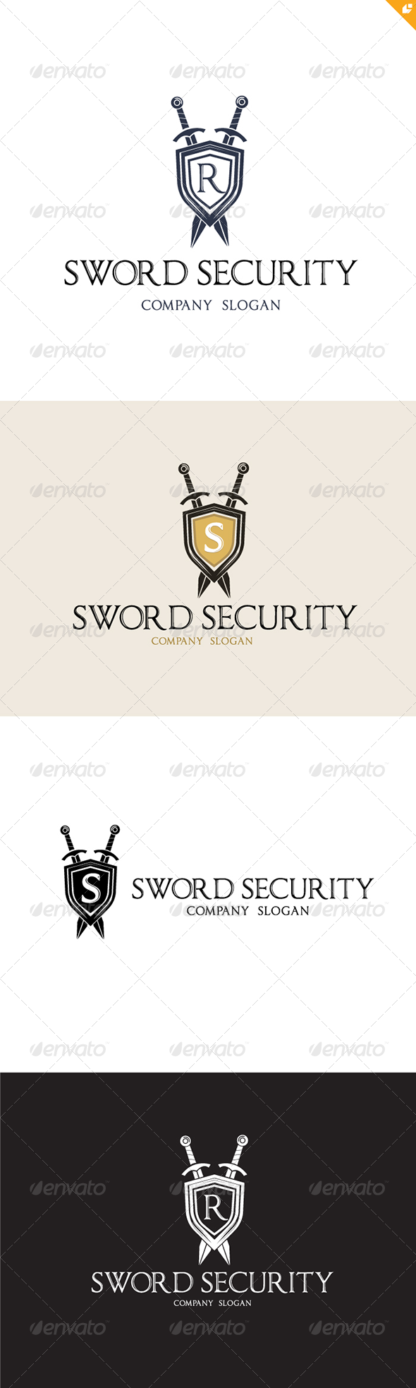 Sword Security Logo - Crests Logo Templates