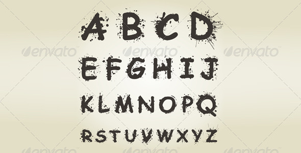 Alphabet Blot - Miscellaneous Vectors