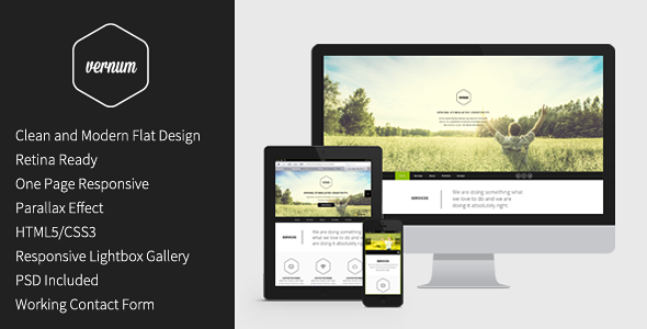 Vernum - Responsive One Page Parallax Template
