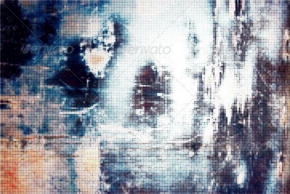 Iron Grunge Halftone Background - Abstract Conceptual