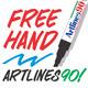 Alphabet Free Hand Artlines 90 Shapes  - GraphicRiver Item for Sale
