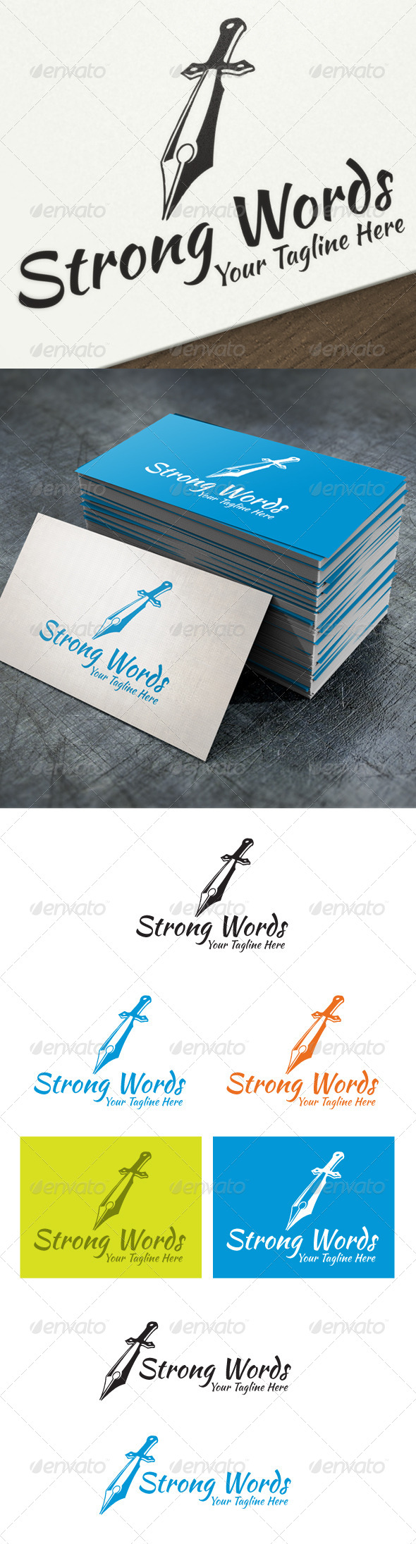 Strong Words - Objects Logo Templates