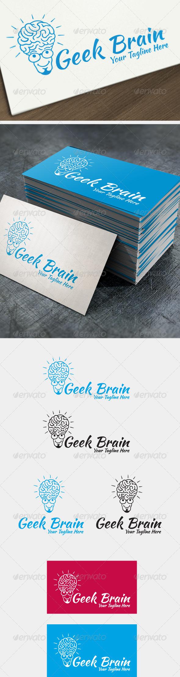 Geek Brain - Humans Logo Templates