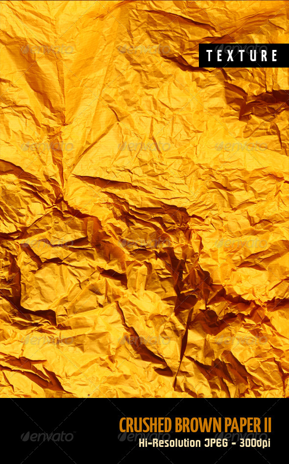 Crushed Brown Paper II - Paper Textures