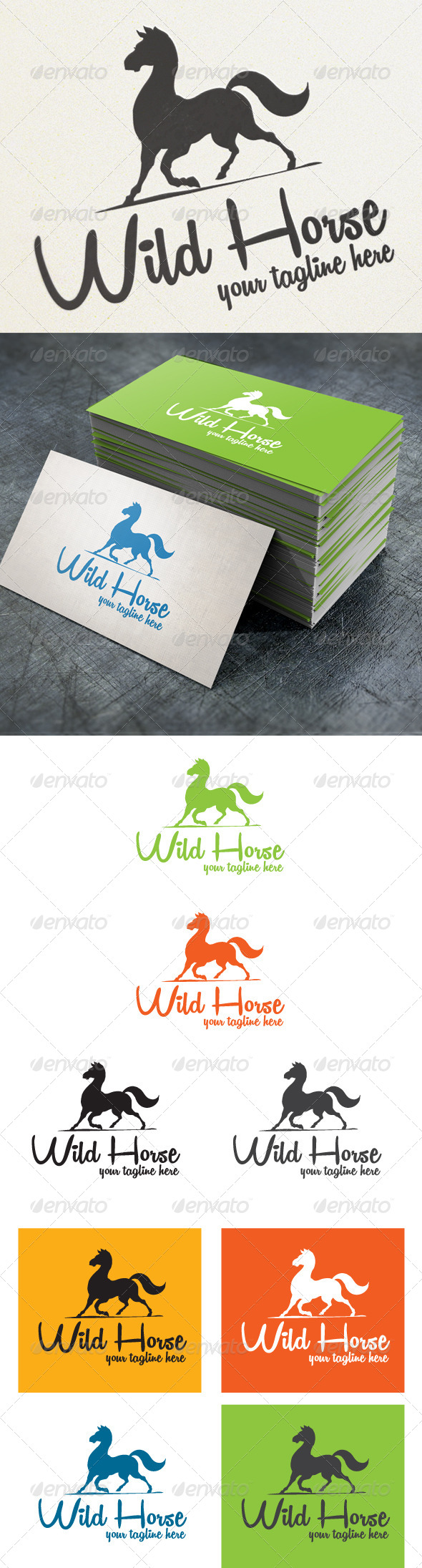 Wild horse - Animals Logo Templates