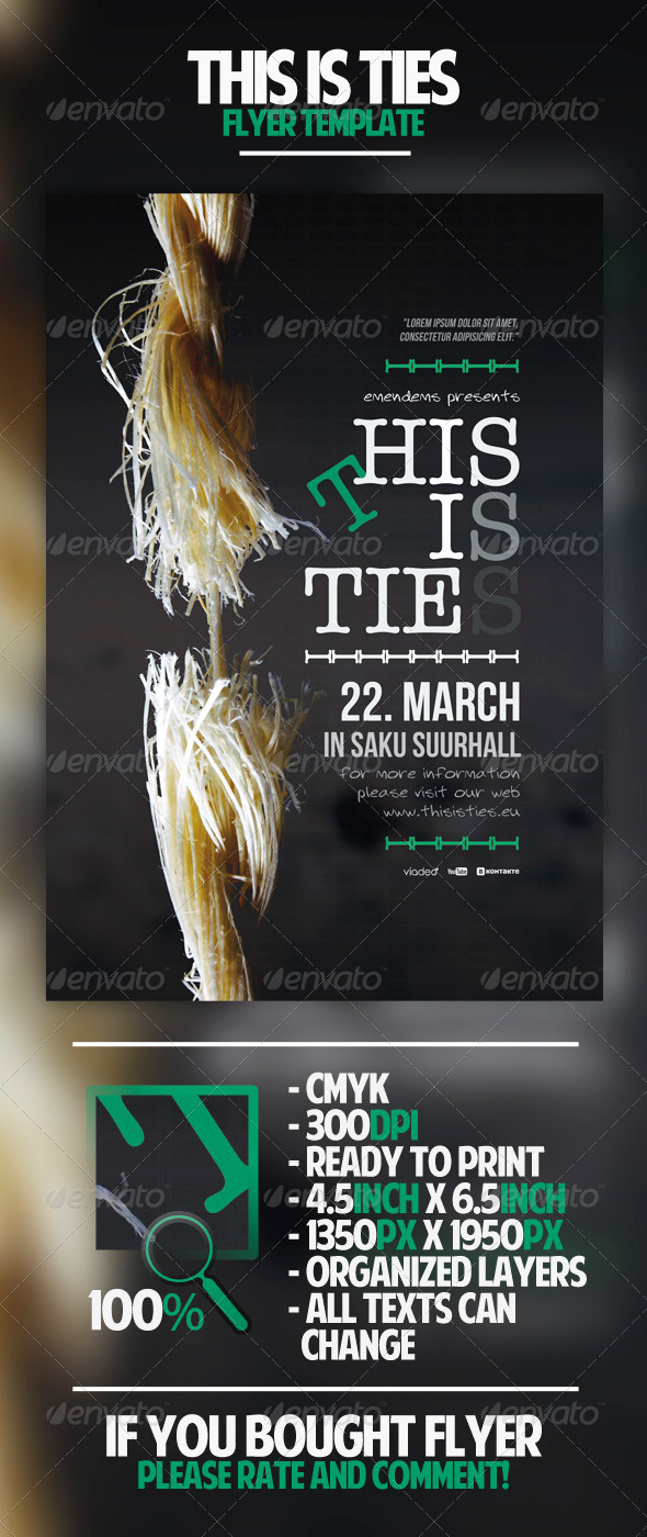 This Is Ties Flyer Template - Miscellaneous Events