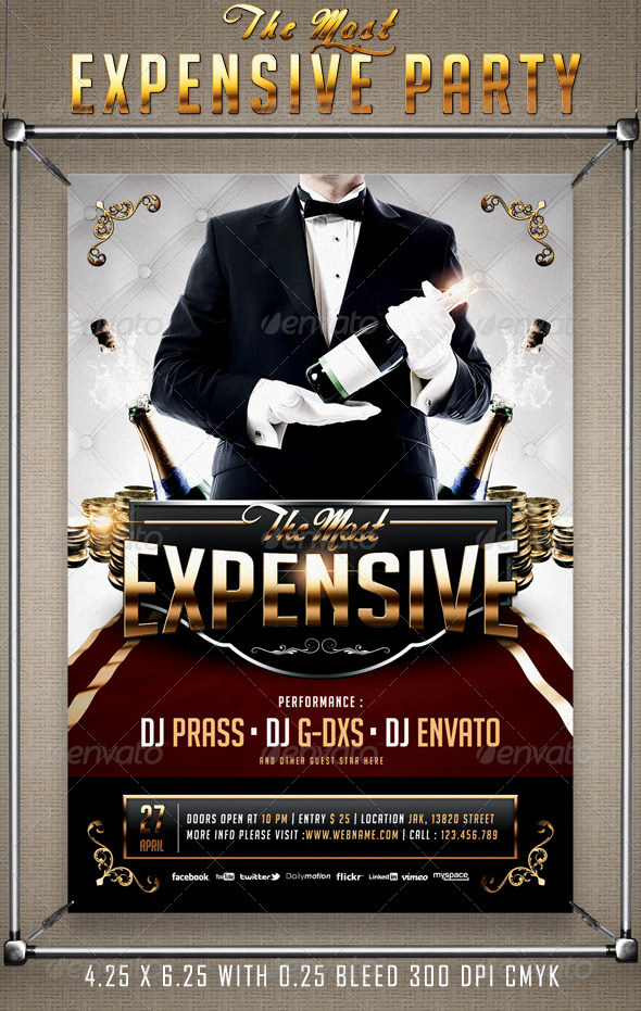 The most expensive party flyer template by prassiod graphicriver the most expensive party flyer template flyers print templates saigontimesfo