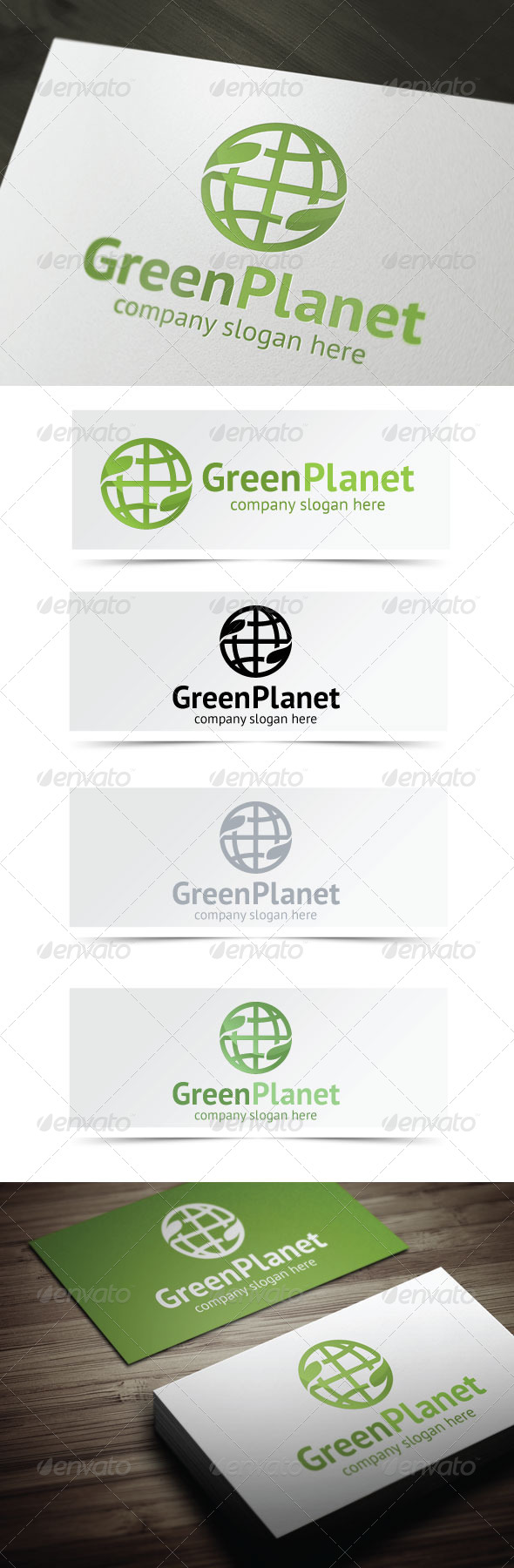 Green Planet - Nature Logo Templates