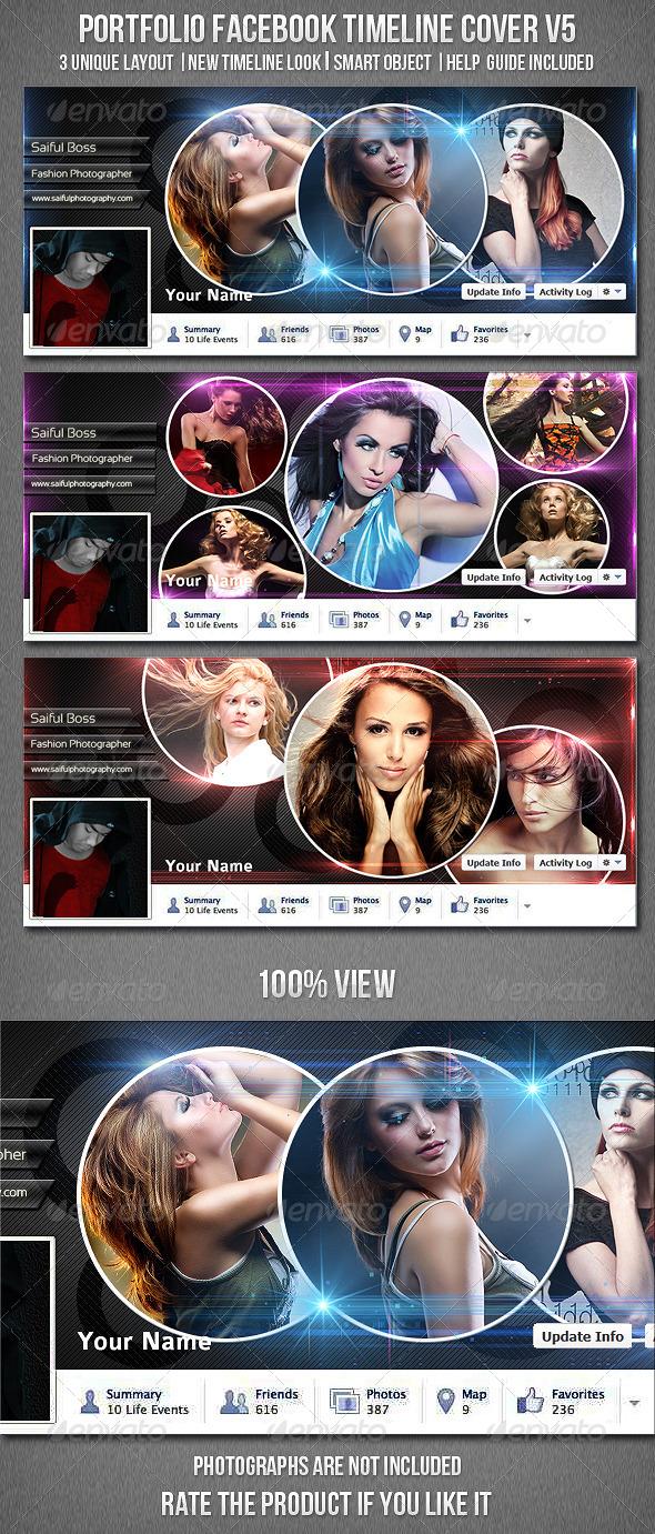 Portfolio Facebook Timeline Cover V5 - Facebook Timeline Covers Social Media