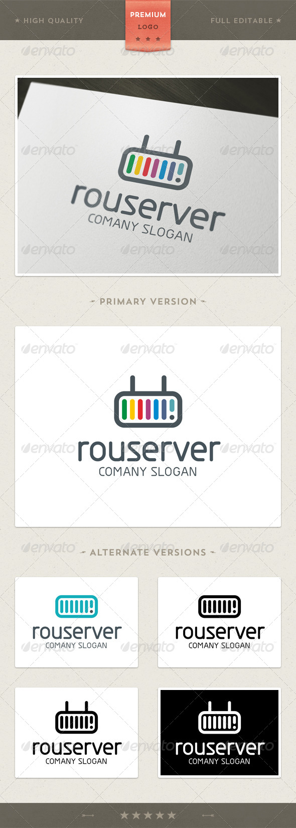 Router & Server Logo Template - Objects Logo Templates