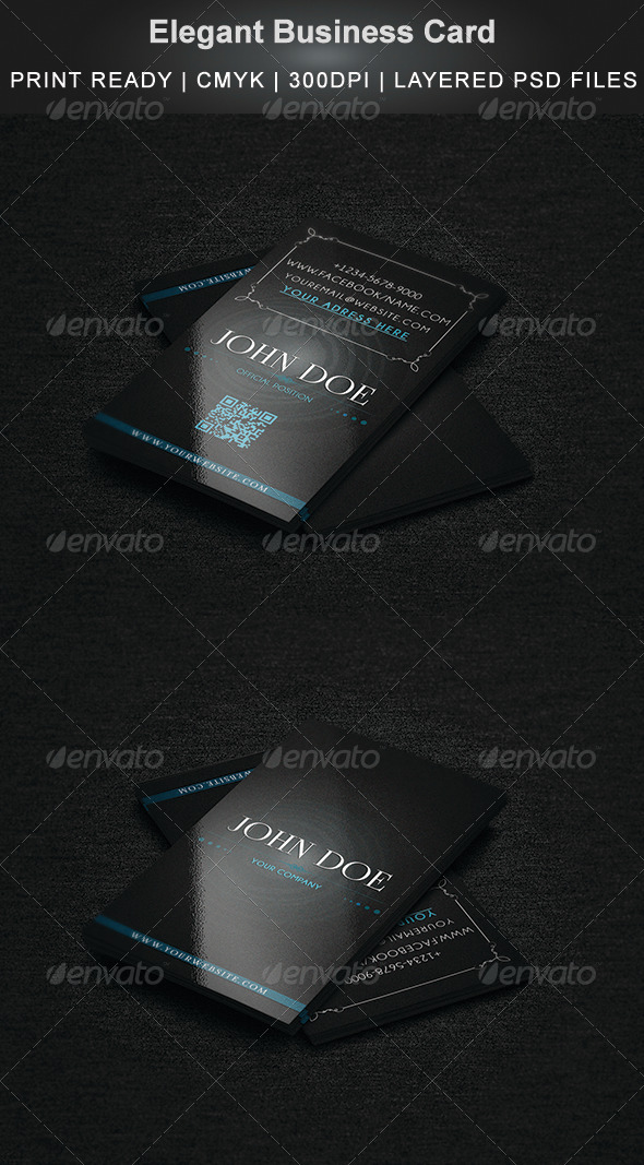 Elegant Business Card - Business Cards Print Templates
