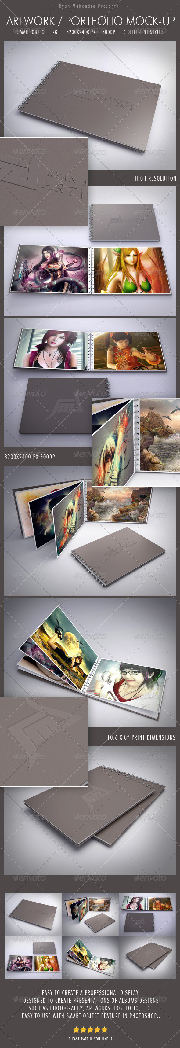 Artwork / Portfolio Mock-Up - Books Print