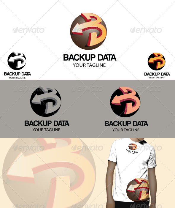 Back up data Logo - 3d Abstract