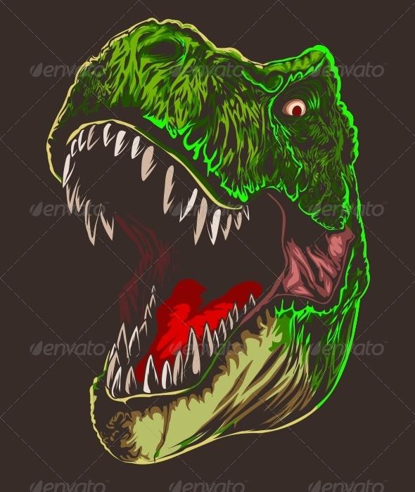 T-Rex Head - Vectors