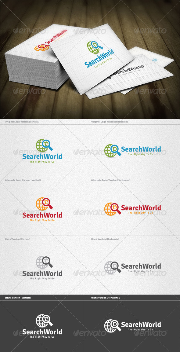 Search World Logo - Symbols Logo Templates