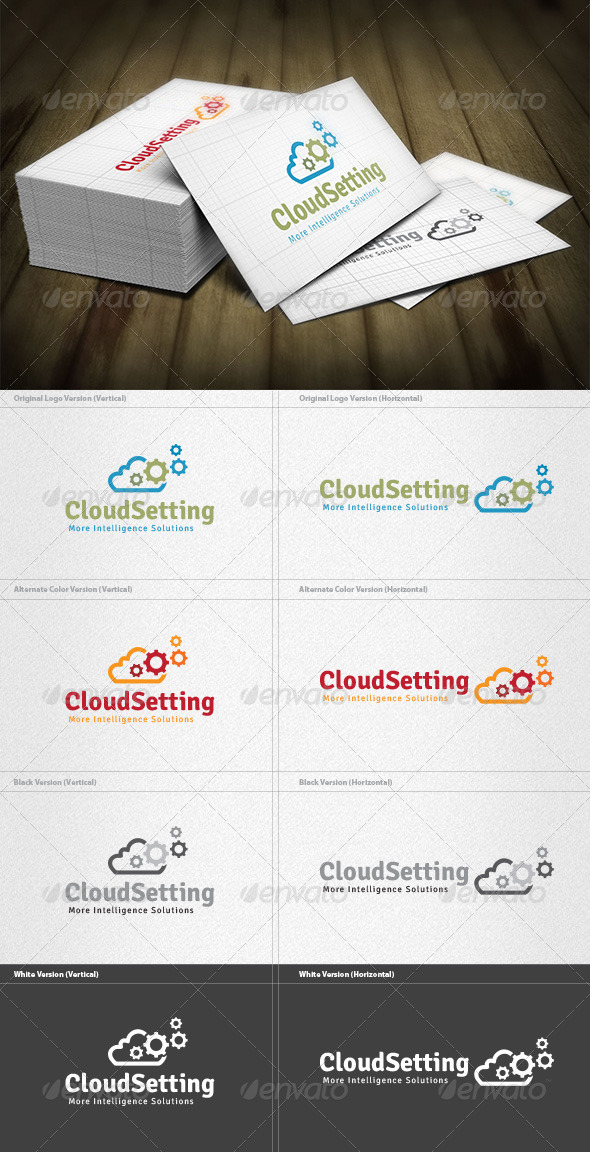 Cloud Setting Logo - Symbols Logo Templates