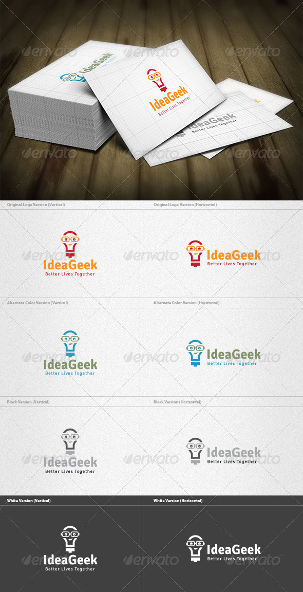 Idea Geek Logo - Humans Logo Templates