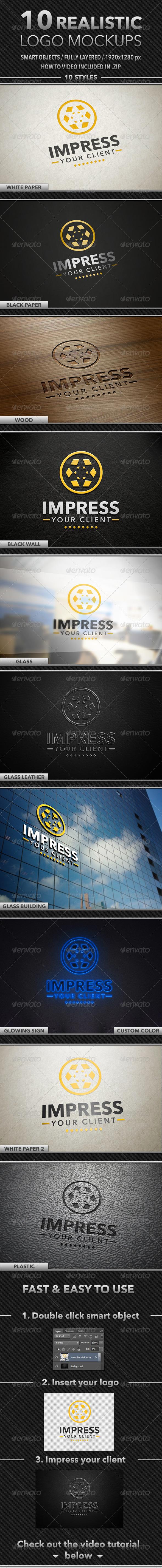 10 Realistic Logo Mockups - Logo Product Mock-Ups