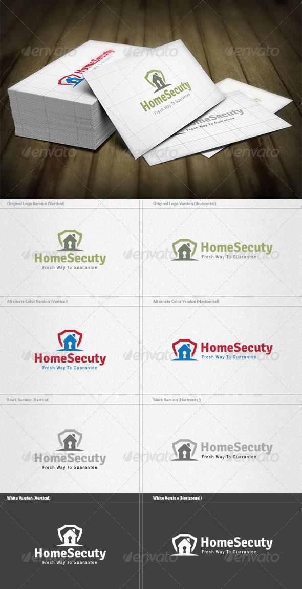Home Security Logo - Buildings Logo Templates