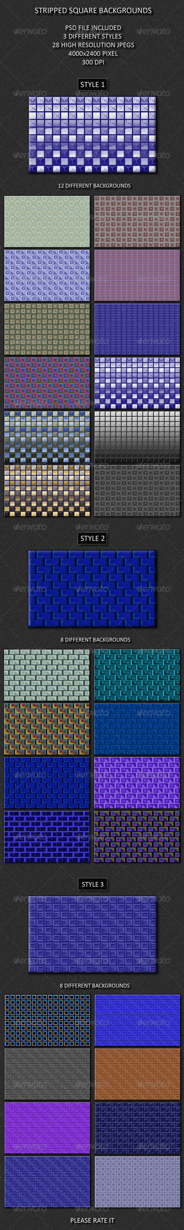Striped Square Backgrounds - Patterns Backgrounds