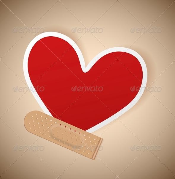 Plaster and Heart - Health/Medicine Conceptual