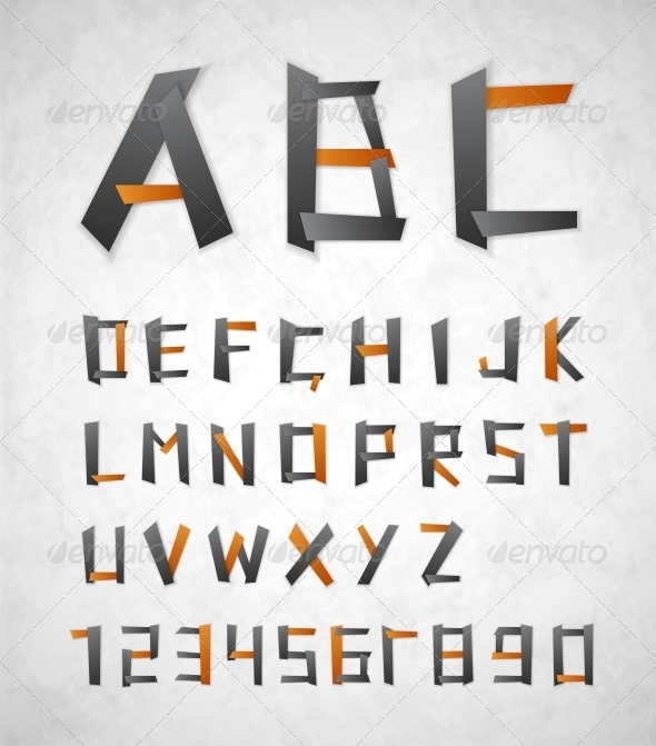 Alphabet from Paper - Decorative Symbols Decorative