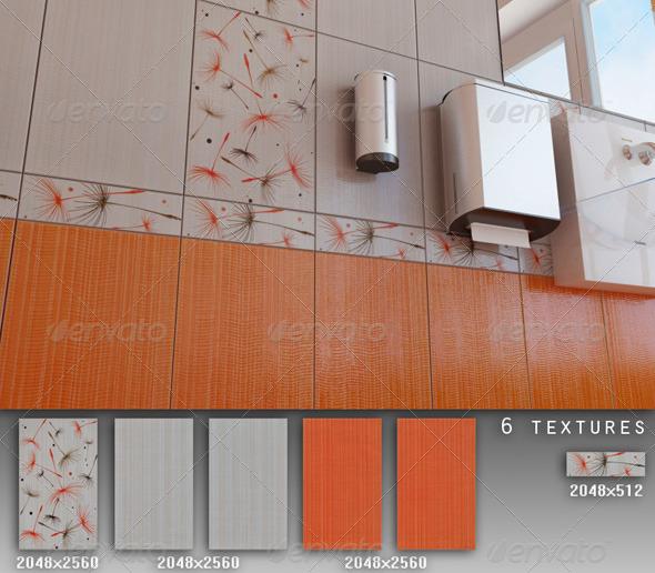 Professional Ceramic Tile Collection C018 - 3DOcean Item for Sale