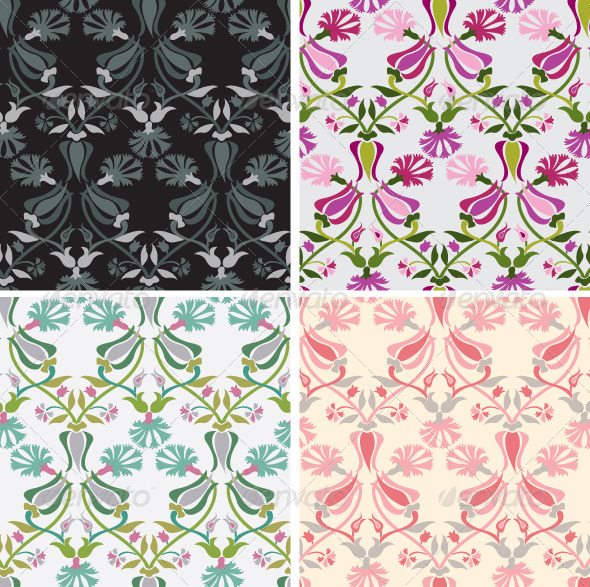 Floral Seamless Pattern - Backgrounds Decorative