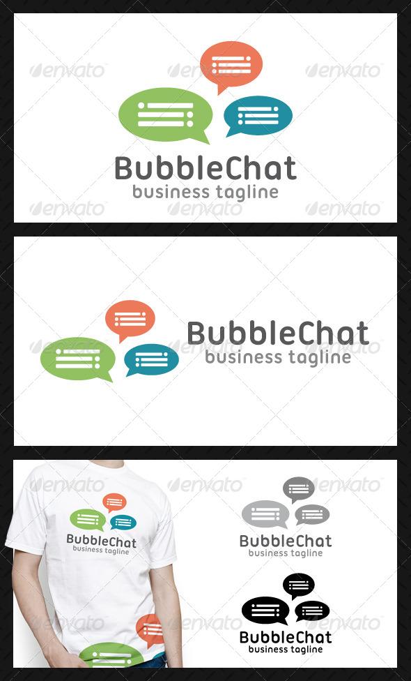 Bubble Chat Logo Template - Symbols Logo Templates