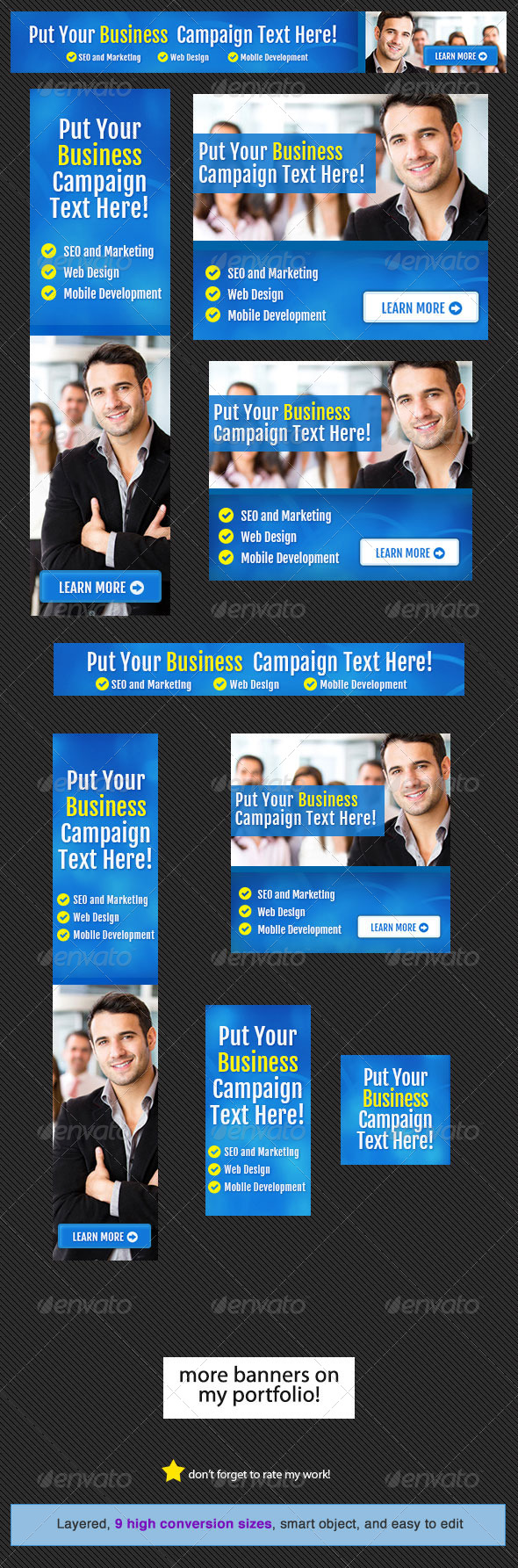 Corporate Web Banner Design Template 14 - Banners & Ads Web Elements