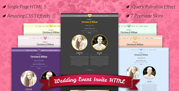 Wedding Event , Marriage Invite HTML Template by BuddhaThemes