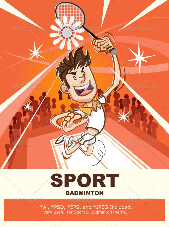 Male Badminton Player - Sports/Activity Conceptual