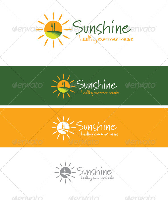 Sunshine - Healthy Meals - Food Logo Templates
