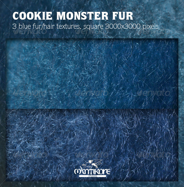 Cookie Monster Fur - Miscellaneous Textures